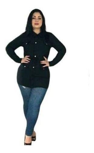 Parka Feminina Plus Size 46 Ao 52 Ref 124