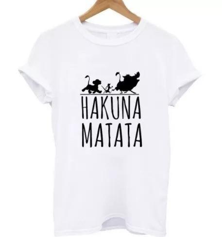 Camiseta Camisa Baby Look Hakuna Matata Maga Curta