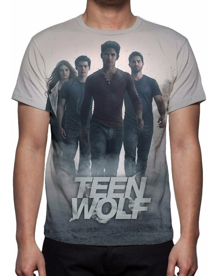 Camisa, Camiseta Série Teenwolf 4ª Temporada - Estampa Total