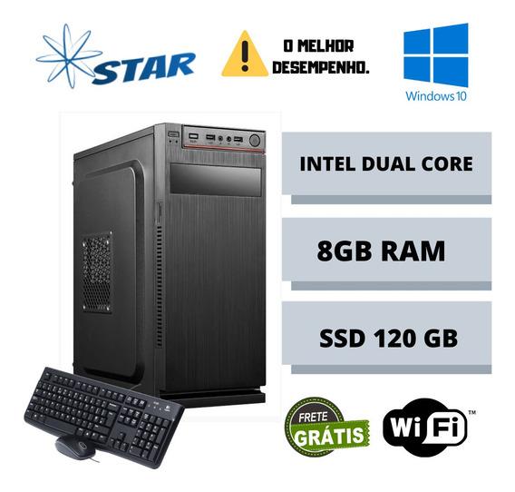 Cpu Montada Dual Core 8gb Ram Ssd 240gb Win10 Oferta