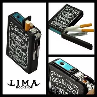 Portacigarros Con Encendedor Jack Daniels