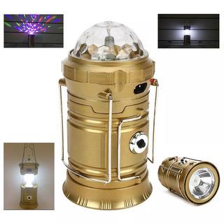 Lampião Led Com Lanterna Jogo De Luz Camping 3 Em 1