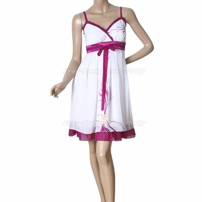 Vestido Corto De Gasa