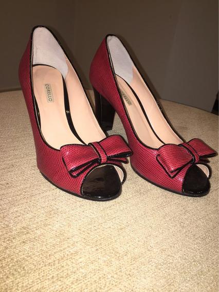 Sapato Corello Novo - Peep Toe Laço - Tam. 39