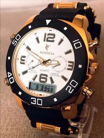 Relógio Masculino Potenzia Preço Baixo Na Promoção + Caixa!!