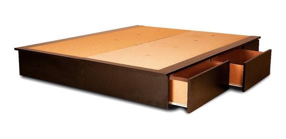 Base Box Somier King Size 4 Cajones Y 2 Bauleras 200 X 180