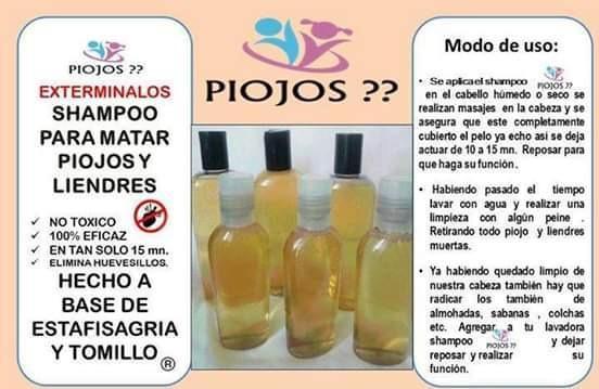 Shampoo Para Eliminar Piojos Y Liendres