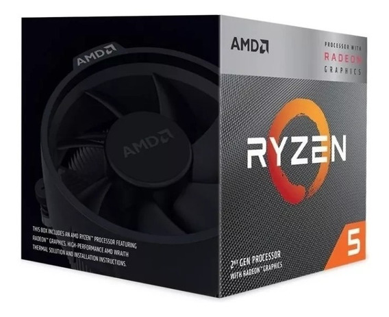 Processador Amd Ryzen 5 3400g 3.7ghz Cache 6mb