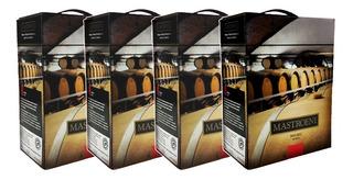 Vino Mastroeni Bag In Box 3lts X 4u. Envío Gratis