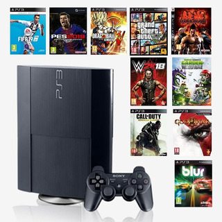 Ps3 Super Slim 500gb + 35 Juegos Digitales A Su Eleccion.!!!