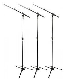 Pedestal Microfone Rmv Girafa Psu 0090 Pró Kit 3 Psu0090