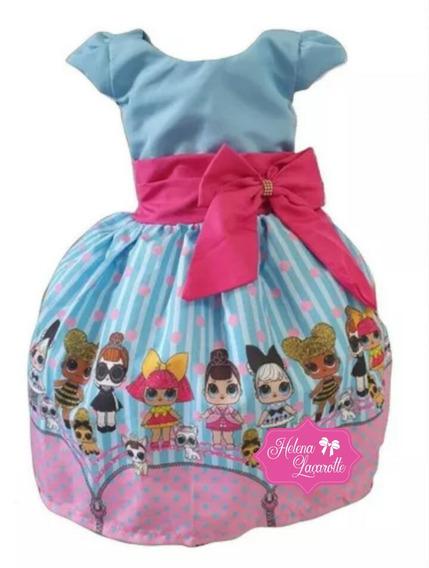 Vestido Festa Tematico Personagem Infantil Lol Surprise