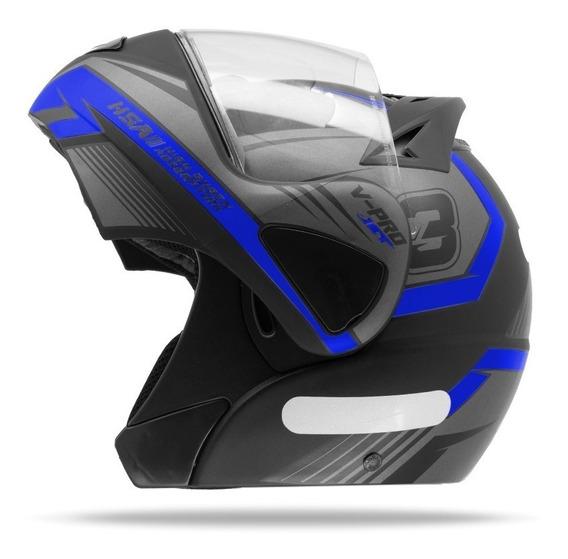 Capacete Moto Escamoteável Pro Tork V-pro Jet 3 Azul