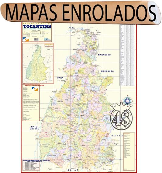 Mapa Estado De Tocantins 120 X 90cm Gigante - Enrolado