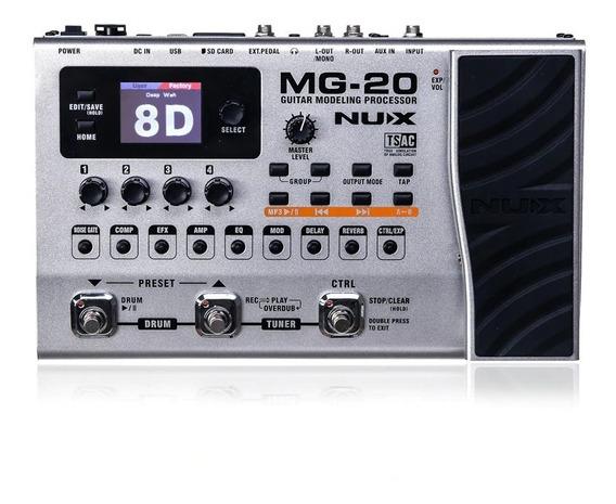 Pedaleira Para Guitarra Nux Mg-20 (novissima)