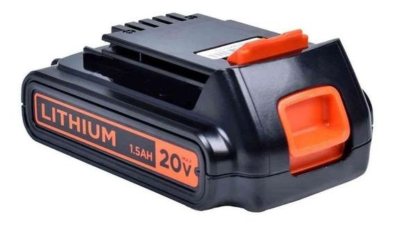Bateria De Litio Ion 20v 1.5ah - Ld120bat Black + Decker