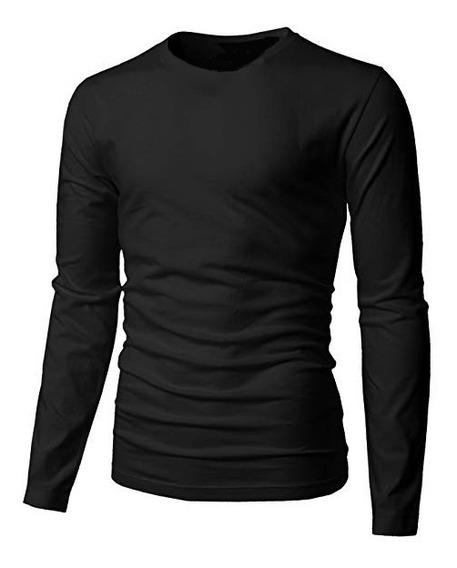 Kit 5 Camisas Slim Fit Básica Manga Comprida Moda Masculina