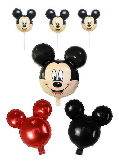 1 Globo Mickey Grande + 2 Globos Mickey Liso + 4 De Mano