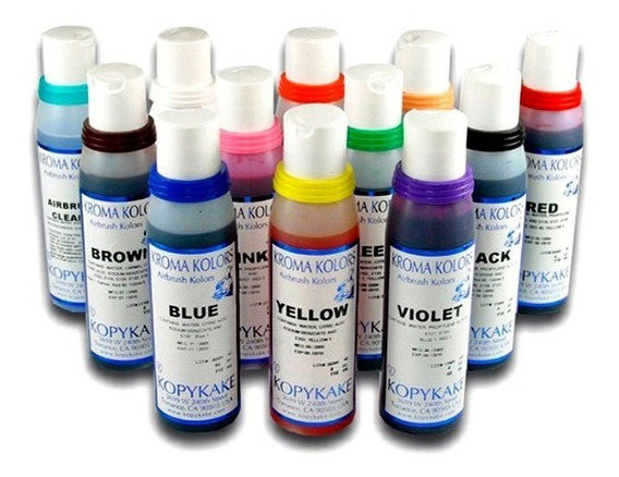 Aerógrafo: Set De Colores Kroma Kolor 240 G X 12