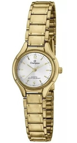 Relógio Champion Feminino Ch26891w Dourado + Nf