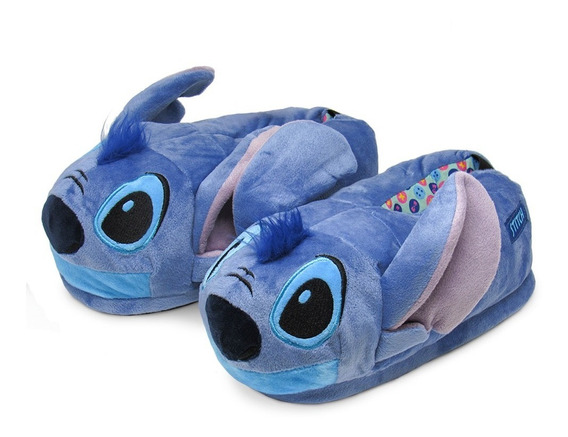 Pantufa 3d Stitch - Solado De Borracha - Original Disney