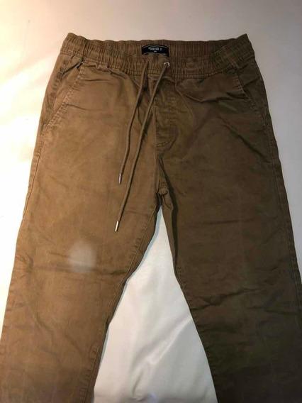 Pantalon Elastizado Forever 21 Marron
