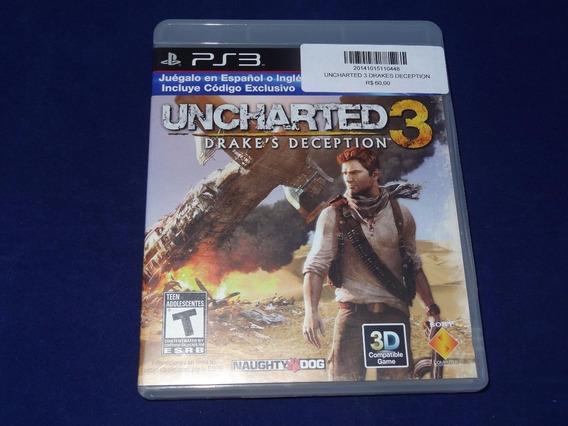 Jogo Ps3 - Uncharted 3 Drakes Deception