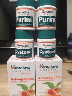 2 Purim, 2 Cystone, 2 Ashvagandha. - Unidad a $6667