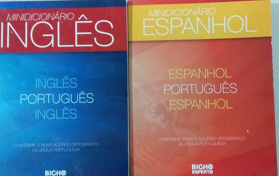 Dois Mini Dicionário Espanhol E Inglês Novo - Frete Grátis