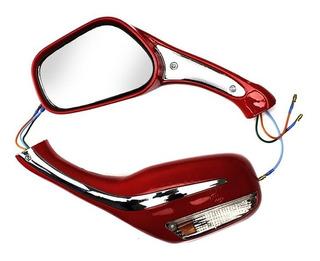 Espejo Der/izq C/luz Direccional Set It Ds 150 (rojo)