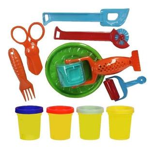 Kit Massinha Colorida Original Vip Toys Rolo Com Forminhas