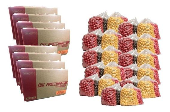 Paquete 4 Cajas Recoil 8000 Paintballs Gotcha Xtreme P