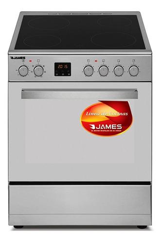 Cocina James C-203 Vitrocerámica Negro Ac. Inoxidable Dimm