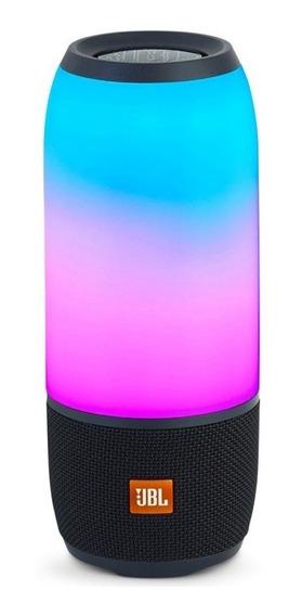 Caixa Portátil Jbl Box Pulse 3 Preto 20w Bluetooth Luzes Le