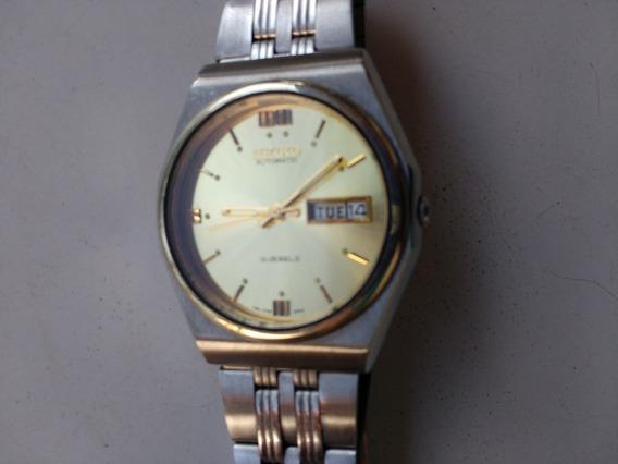 Relógio Seiko 5 Automático Dourado Perfeito Revisado Lindo