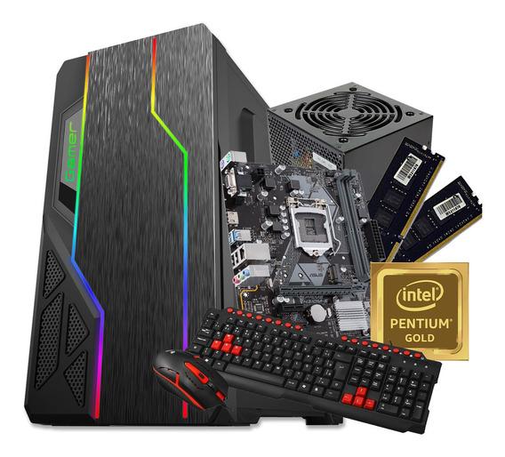 Pc Gamer Pentium Gold G5400 4gb Ssd 120gb Garantia Qualidade