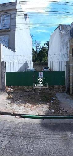 Terreno, 125 M² - Venda Por R$ 255.000,00 Ou Aluguel Por R$ 1.200,00/mês - Jardim Milena - Santo André/sp - Te0994