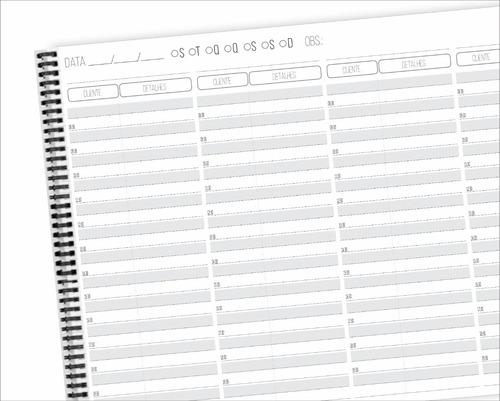 Caderno Agendamento Horario Salão Beleza 4 Prof Personalizad