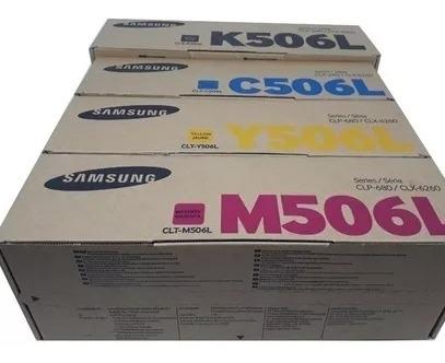 Kit 04 Toner Samsung Clt - 506l Original Novo