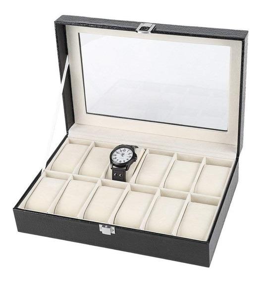 Caja Organizadora 12 Relojes 30 X 8 X 20 Cm Chileclick