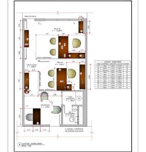 Imagem 1 de 6 de Sala Dividida Para Dois Escritórios - 24503