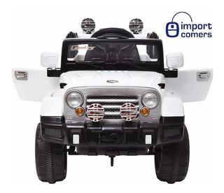Auto Jeep A Bateria 12v 2motores Mp3 Control Cuero 12 Cuotas