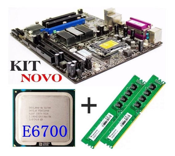 Kit Gamer Placa Mãe + Core E6700 + 4gb + Cooler ( Novo )