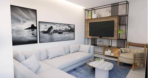 Apartamento Com 2 Dormitórios, Sendo Os 2 Suítes À Venda, Por R$ 719.000 - Glória. - Ap0344