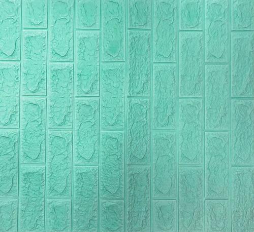 Adhesivo Para Pared Simil Ladrillo Negro 70x77cm Decorativo