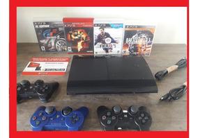 Ps3 Playstation 500gb + Controle Slim Super + Bivolt Jogos