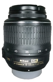 Lente Af-s Dx Nikon 18-55mm 1:3.5-5.6g Vr Seminova Perfeita