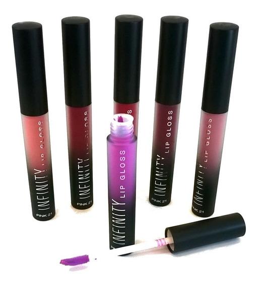 Maquillaje Brillo Labial Matte Pink 21 Infinity Por Unidad A