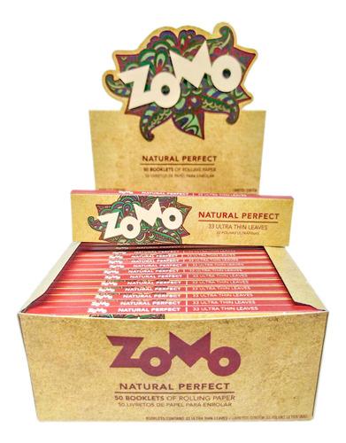 Caixa Seda Zomo Marrom Brown King Size C/50 Smoking Atacado