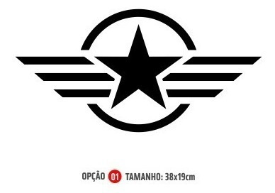 Adesivo Símbolo Estrela Militar Grande P/ Porta - Fix Street